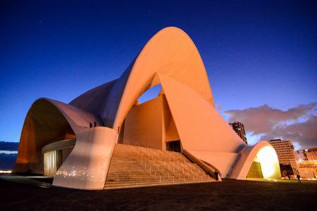 Auditorium in Tenerife in Canary Islands, Spain, Europe 스톡 콘텐츠