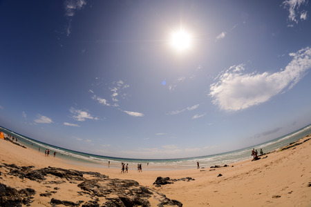 Photo Picture of the Beautiful Sand Ocean Beach