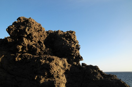 Dry Hardened Lava Rocks Landscape of a Dormant Volcano