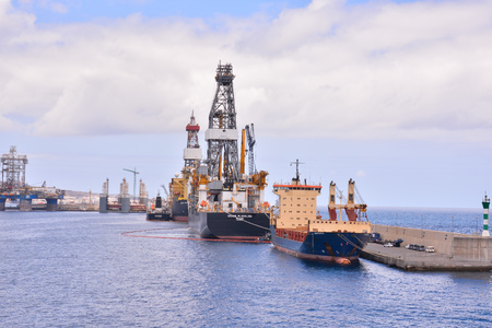 Editorial Picture of the Port in Gran Canaria Spain 10 october 2015 Éditoriale