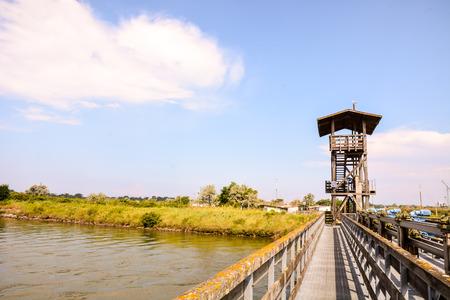 Photo pictureLandscape of The Po Delta River in Italy 스톡 콘텐츠