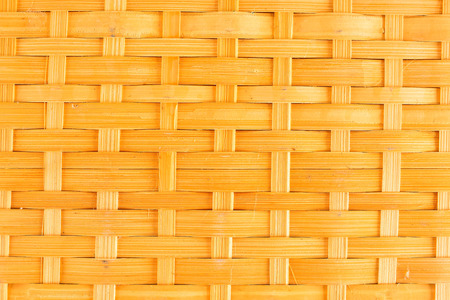 Bamboo basketry pattern texture of fruit basket close up Stockfoto