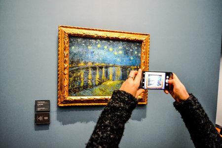 Editorial picture of Orsay Romantic Museum in Paris city taken in date 25 december 2018