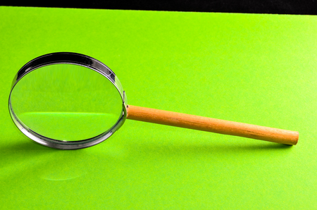 magnifying glass on white background, beautiful photo digital picture