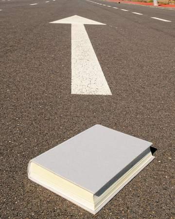 book on asphalt, beautiful photo digital picture