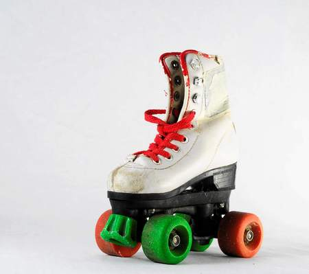 ice skates isolated on white background 写真素材