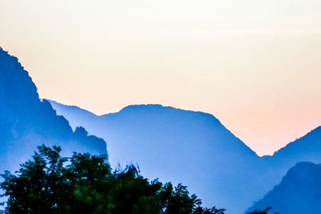 mountains in fog, beautiful photo digital picture