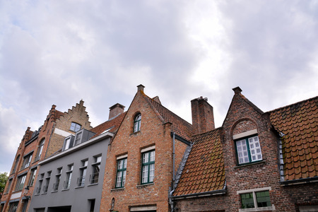 Photo Picture of Classic Architecture European Building Village Brugge in Belgium Stock Photo