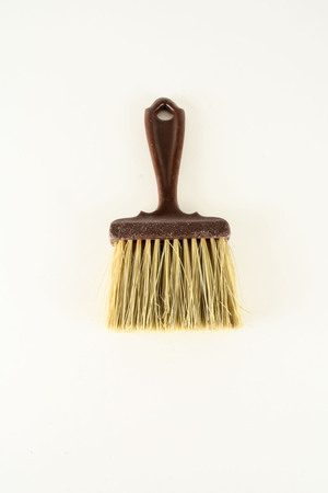 Close-up of broom brush Object on a White Background