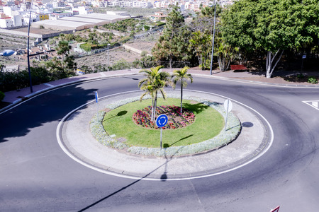 Photo Picture Image of a roundabout on the street