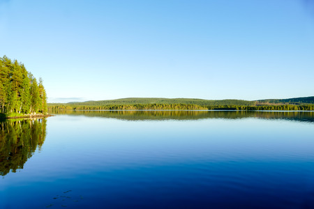 lake in deep forest, beautiful photo digital picture Фото со стока - 115814055