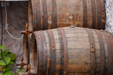 Photo Image of the Classic Wood Wine Barrel