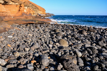 Photo Picture of the Beautiful Ocean Coast's View Montana Amarilla Tenerife