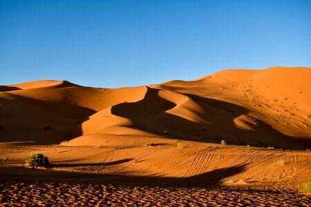 krajobraz pustyni w egipcie, piękne zdjęcie cyfrowe zdjęcie Zdjęcie Seryjne