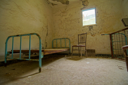 Interior Of An Abandoned House in Canary Islands Spain