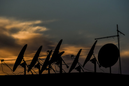 silhouette of antenna, beautiful photo digital picture