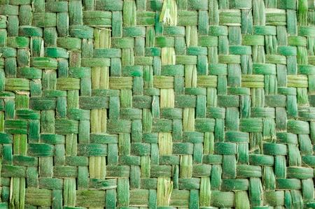 Green Vimini Bamboo weaving texture background pattern