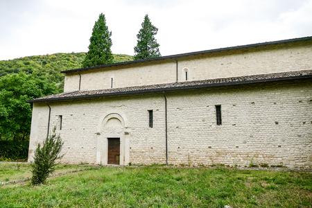 San Clemente abbey church ruins Abruzzo region Stock Photo