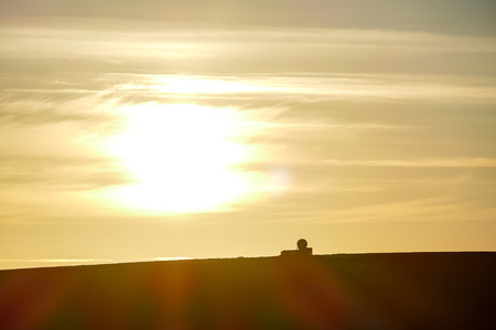 silhouette of man on top of mountain, beautiful photo digital picture