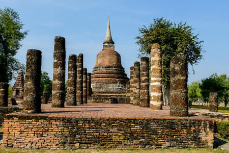 ancient pagoda in ayutthaya thailand, beautiful photo digital picture