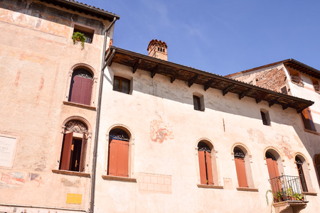 Photo Picture of the Medieval City Bassano del Grappa Banque d'images - 121496743