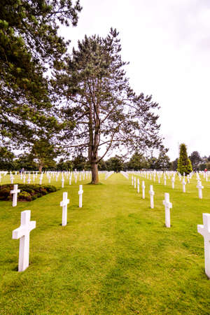 French American Cemetery in Normandy Stockfoto