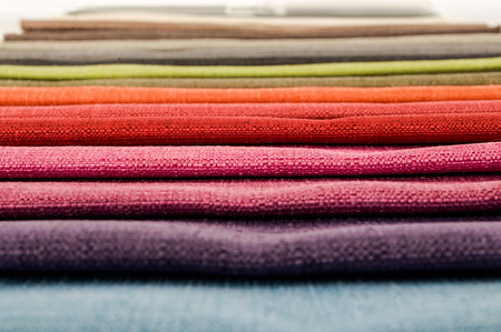 Photo picture Samples of colored cloth background texture