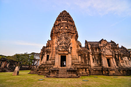 Beautiful photo picture of phimai thai ruins taken in thailand, Southeast Asia Фото со стока