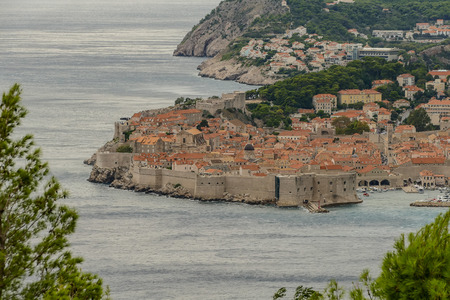 view of town of dubrovnik in croatia, beautiful photo digital picture 免版税图像