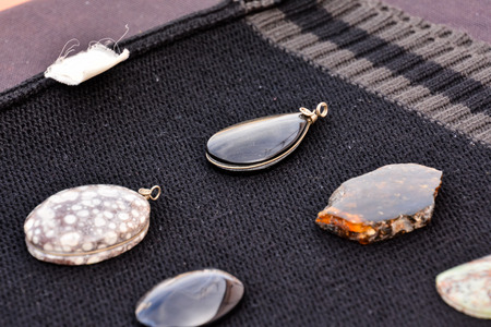 Photo Picture of Semi Precious Rock Stone Jewel 스톡 콘텐츠 - 121039681