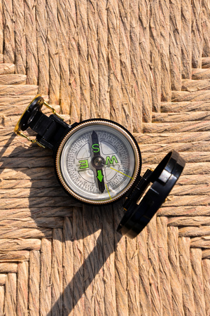 Photo Picture of a Magnetic Compass Orientation Concept 写真素材