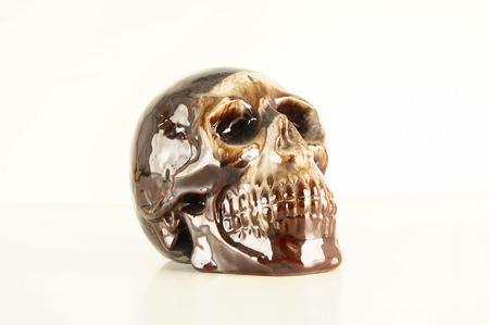 Photo of mexican Decorated skull ceramics death symbol 스톡 콘텐츠