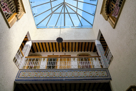 detail of the riad building in morocco, beautiful photo digital picture Imagens - 122214573