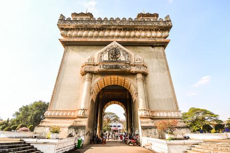 Beautiful photo picture triomphe arc in vientiane laos, Southeast Asia