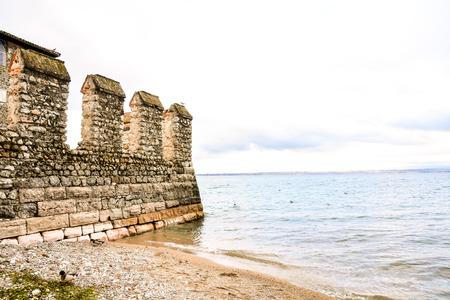 Lago di Garda town of Sirmione view, Tourist destination