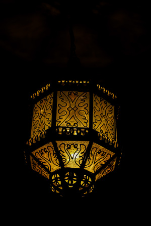 old lamp on the wall, beautiful photo digital picture Imagens