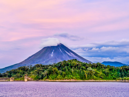 volcano in indonesia, photo as a background, digital image