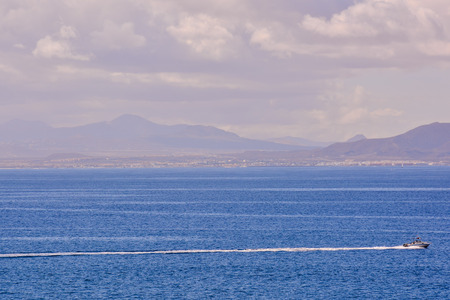 Spanish View Landscape in Papagayo Playa Blanca Lanzarote Tropical Volcanic Canary Islands Spain Stock fotó