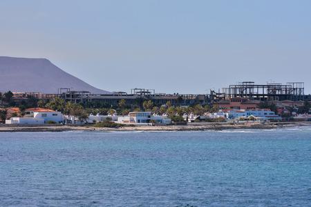 Spanish View Landscape in Corralejo Fuerteventura Tropical Volcanic Canary Islands Spain