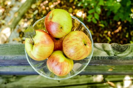 apples in a basket, beautiful photo digital picture Stock Photo
