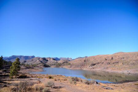 Dark Water Lake in Gran Canaria Canary Islands Spain
