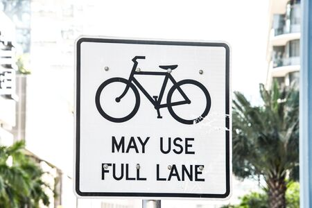 bike sign on road, photo as a background, digital image