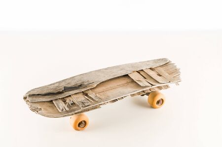Photo Picture of a Vintage Style Concued Skateboard Background Stock fotó