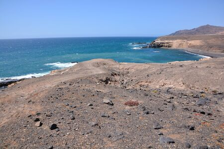Volcanic Basaltic Rock Formation in the Canary Islands