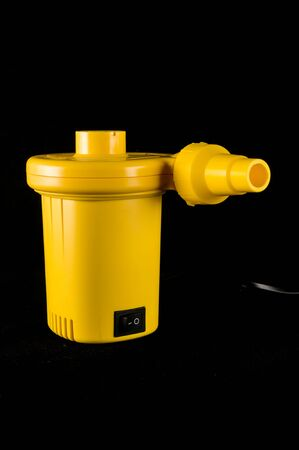 Close-up of air pump Object on a Black Background 스톡 콘텐츠
