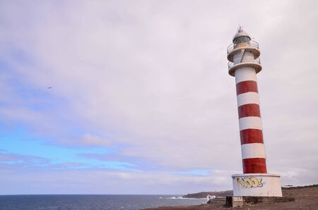 High Lighthouse near the Coast in the Canary Islands