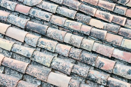 Photo Picture of Tiles on the Building Roof Texture