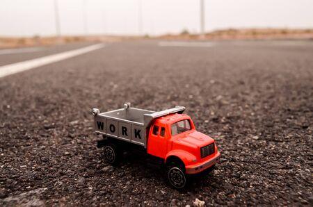 Model of the Truck on an Asphalt Road