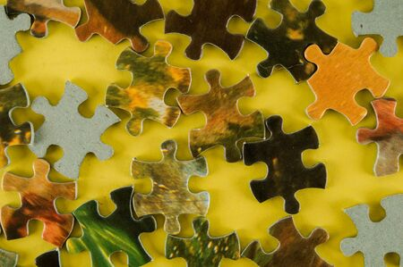 Photo picture of Jigsaw puzzle Background or texture
