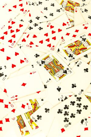 Poker card texture Casino cards as background
